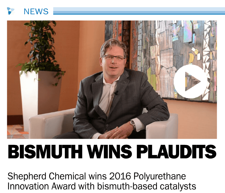 Rob Hart, Head of Research & Development at Shepherd Chemical, Shares New, Innovative Bismuth Polyurethane Catalysts
